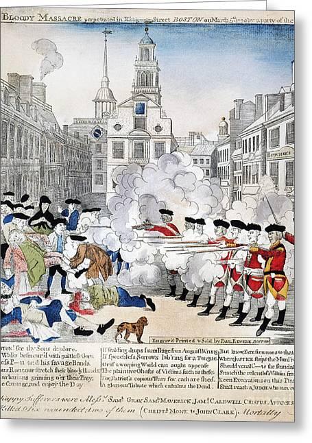 Boston Massacre, 1770 Greeting Card