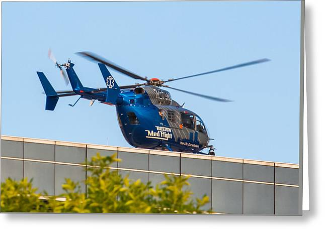 Boston Medflight Greeting Card by Brian MacLean