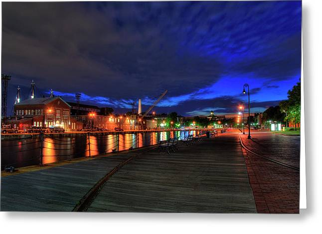 Boston Navy Yard - Constitution Marina Greeting Card