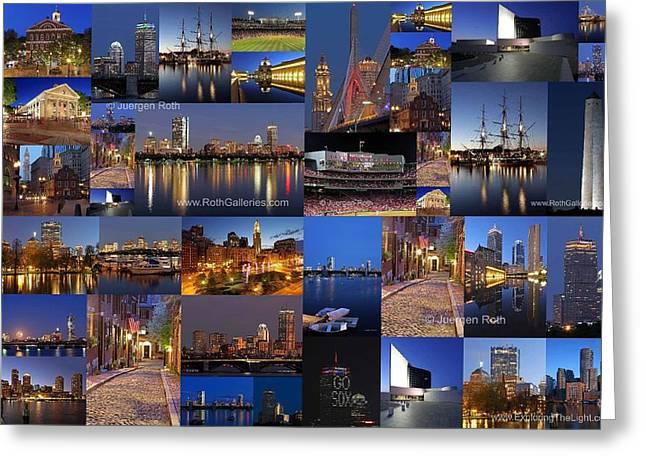 Greeting Card featuring the photograph Boston Nights Of Light by Juergen Roth