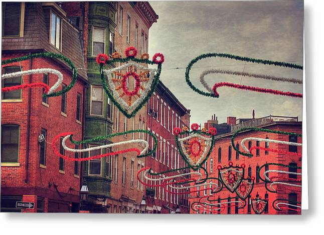 Boston North End - Italian Festival  Greeting Card by Joann Vitali