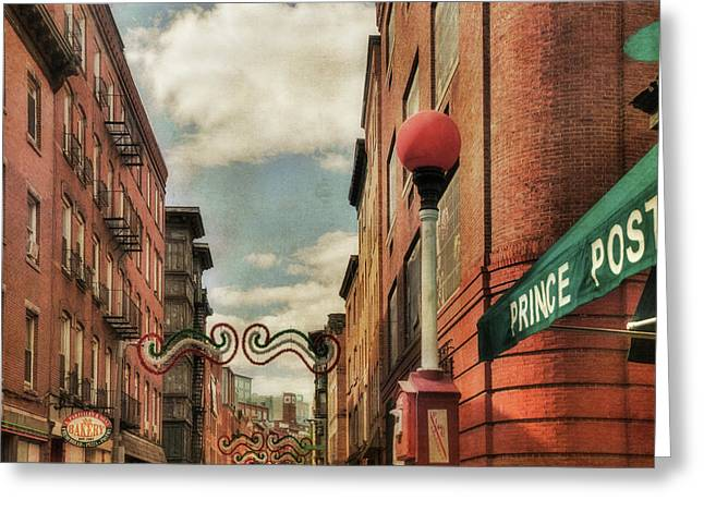 Boston North End Greeting Card