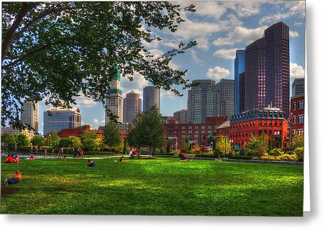 Boston North End Parks - Rose Kennedy Greenway Greeting Card by Joann Vitali