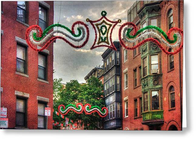 Greeting Card featuring the photograph Boston North End Saint Anthony's Feast by Joann Vitali