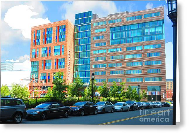 Boston Picture Perfect Parking Colorful Buildings Great Architecture  Navinjoshi Finearica Pixels Greeting Card by Navin Joshi