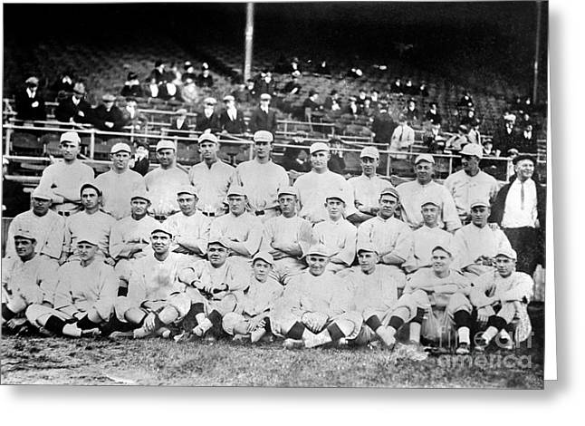 Gainer Greeting Cards - Boston Red Sox, 1916 Greeting Card by Granger