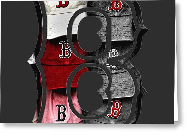 Boston Red Sox B Logo Greeting Card