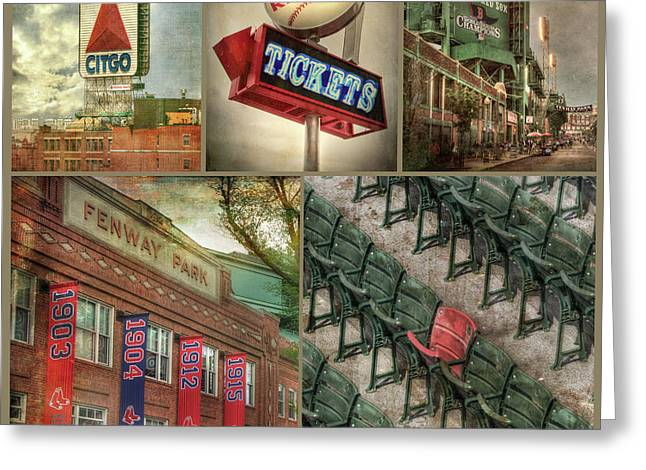 Boston Red Sox Fenway Park Collage Greeting Card