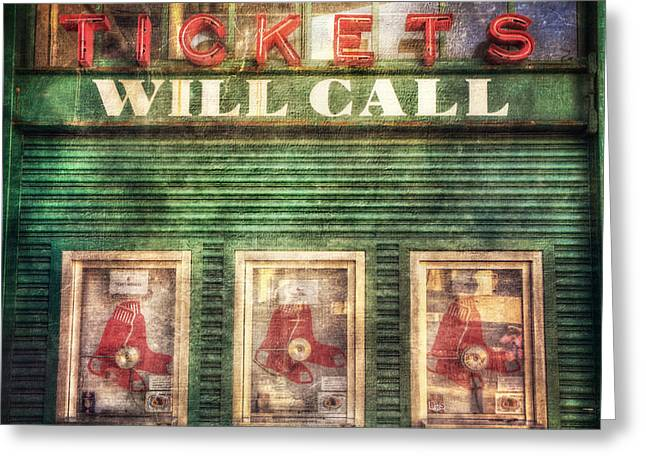 Boston Red Sox Fenway Park Ticket Booth Greeting Card by Joann Vitali