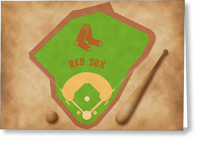 Boston Red Sox Field Greeting Card by Carl Scallop