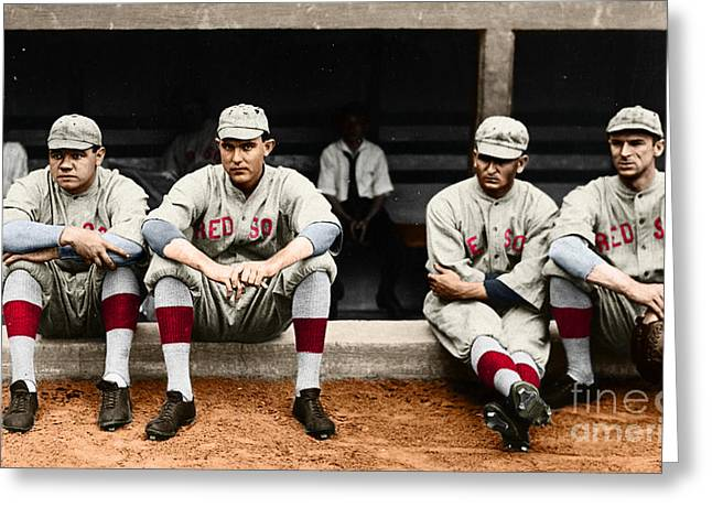 Greeting Card featuring the photograph Boston Red Sox by Granger