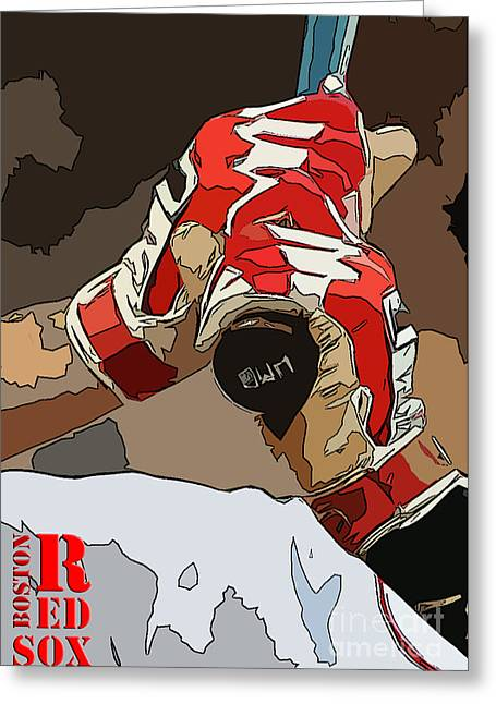 Boston Red Sox Original Typography Baseball Team  Greeting Card by Pablo Franchi