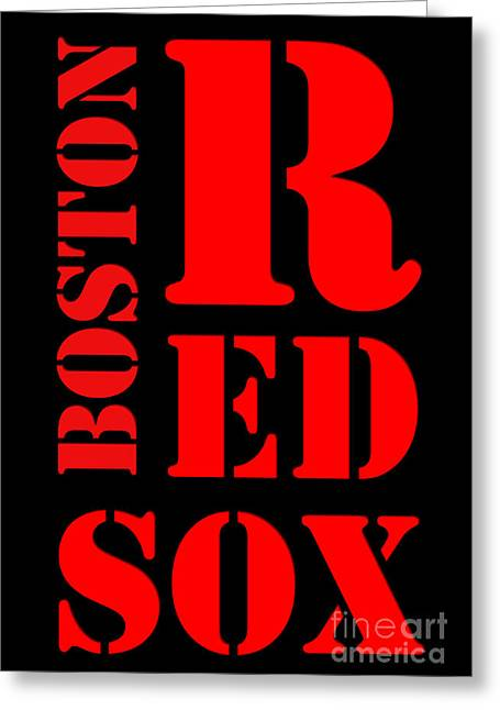 Boston Red Sox Typography Greeting Card by Pablo Franchi