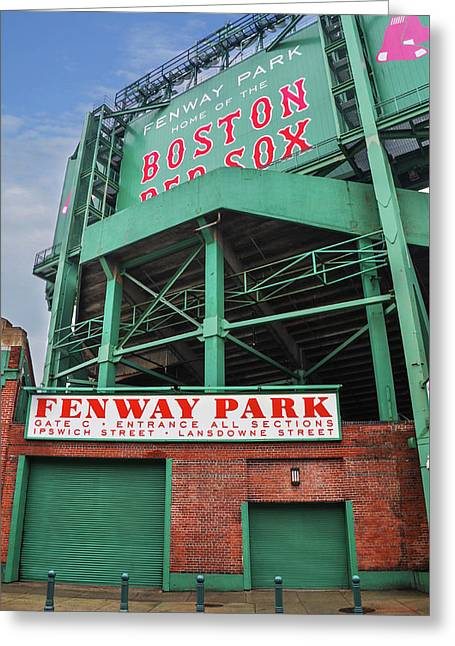Boston Redsox - Fenway Park Greeting Card by Bill Cannon