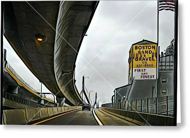 Boston Sand And Gravel  Greeting Card