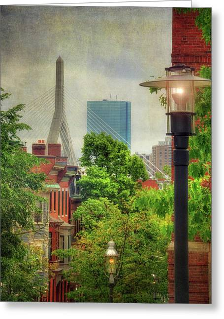 Boston Scenes - Charlestown, Ma Greeting Card by Joann Vitali