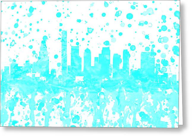 Boston Skyline 1a Greeting Card