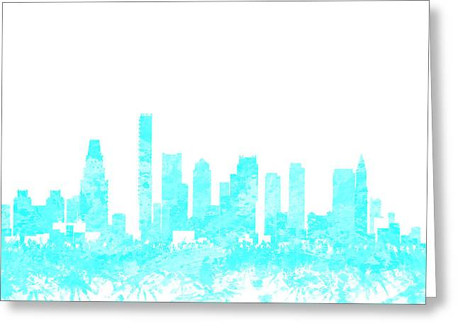 Boston Skyline 1b Greeting Card