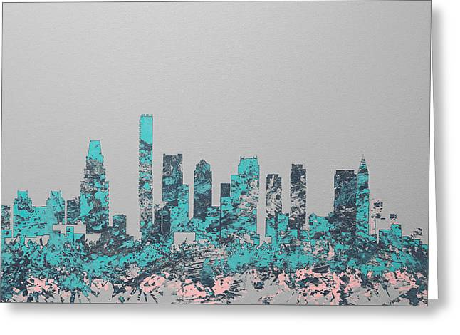 Boston Skyline 1c Greeting Card