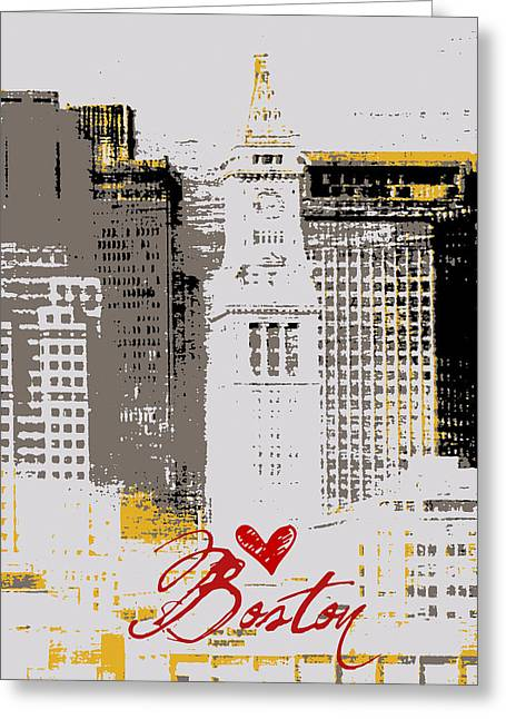 Boston Skyline 2 Greeting Card by Brandi Fitzgerald