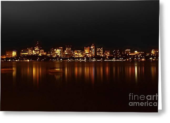 Boston Skyline Greeting Card by Frank Garciarubio