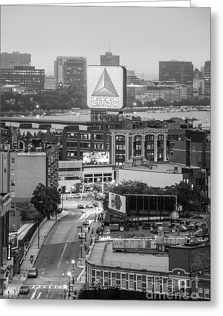Boston Skyline Photo With The Citgo Sign Greeting Card by Paul Velgos