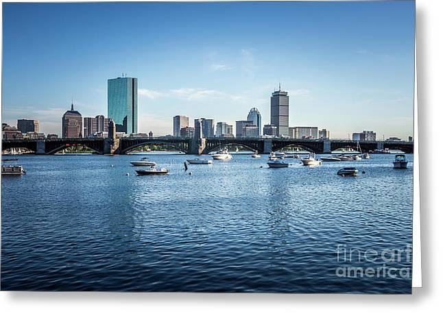 Boston Skyline With The Longfellow Bridge Greeting Card by Paul Velgos