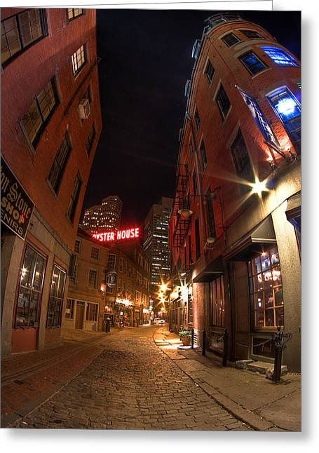Boston Street Greeting Card by Joshua Ball