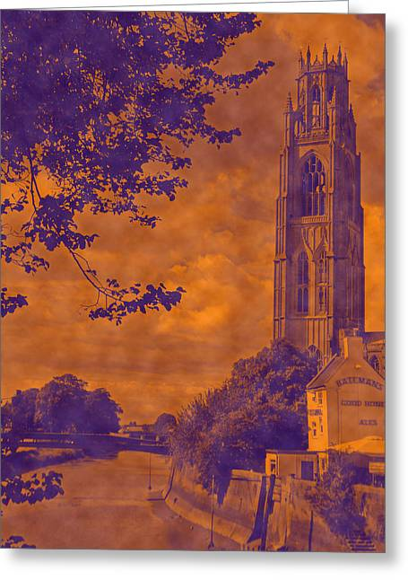 Boston Stump - Old Style Greeting Card by Dave Parrott