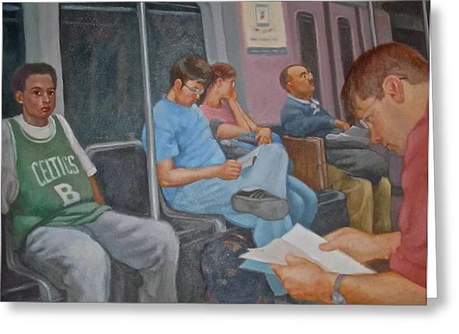 Janet Mcgrath Greeting Cards - Boston Subway Greeting Card by Janet McGrath