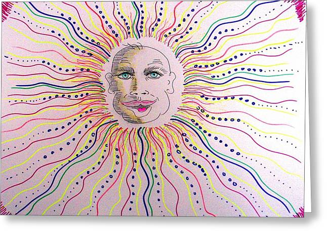 Boston Sun One Greeting Card
