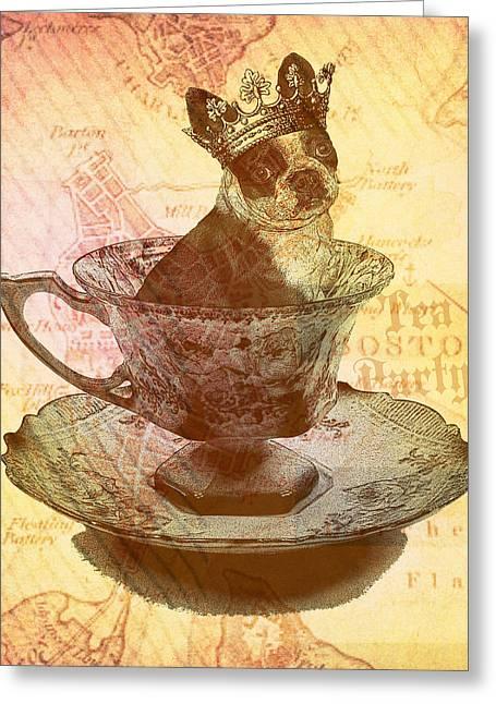Boston Tea Party Greeting Card by Brandi Fitzgerald