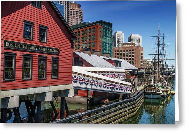 Boston Tea Party - Museum And Ship Greeting Card