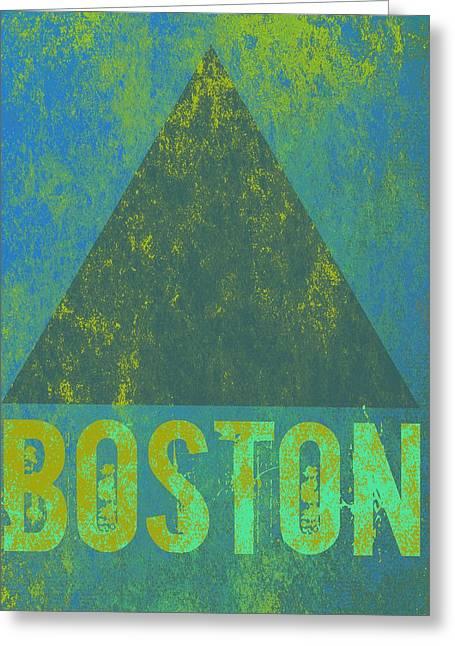 Boston Triangle V2 Greeting Card