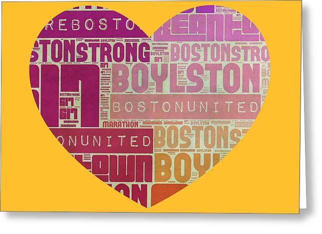 Boston United Greeting Card by Brandi Fitzgerald