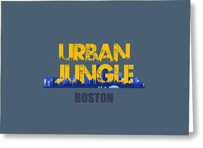 Boston Urban Jungle Shirt Greeting Card by Joe Hamilton