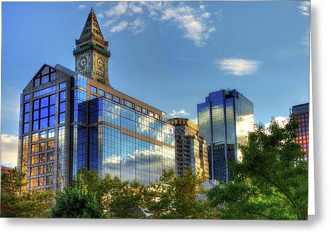 Boston Waterfront Architecture Greeting Card