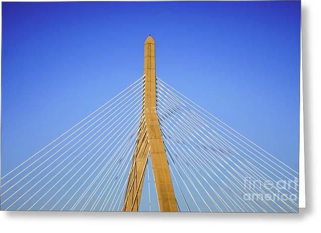 Boston Zakim Bunker Hill Bridge Photo Greeting Card by Paul Velgos
