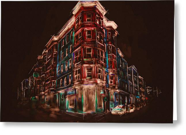 Bostons North End 222 4 Greeting Card by Mawra Tahreem
