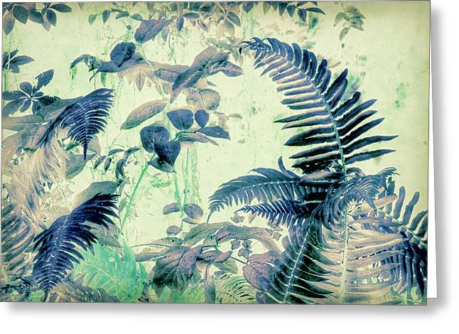 Greeting Card featuring the mixed media Botanical Art - Fern by Bonnie Bruno