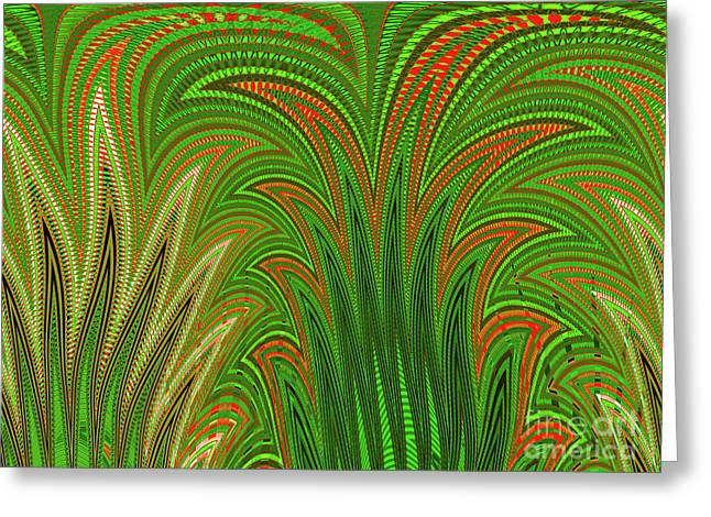 Botanical Tapestry Greeting Card by Ann Johndro-Collins