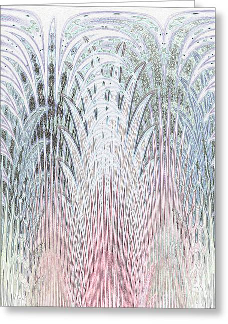 Botanical Weave Greeting Card by Ann Johndro-Collins