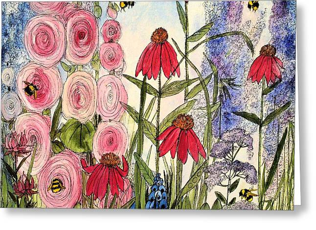 Botanical Wildflowers Greeting Card