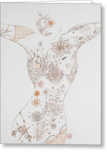 Botanicalia Erica-sold Greeting Card by Karen Robey