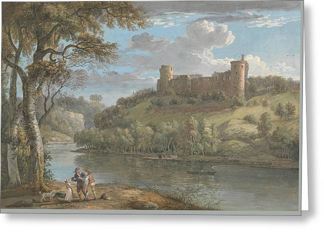 Bothwell Castle, From The South Greeting Card by Paul Sandby