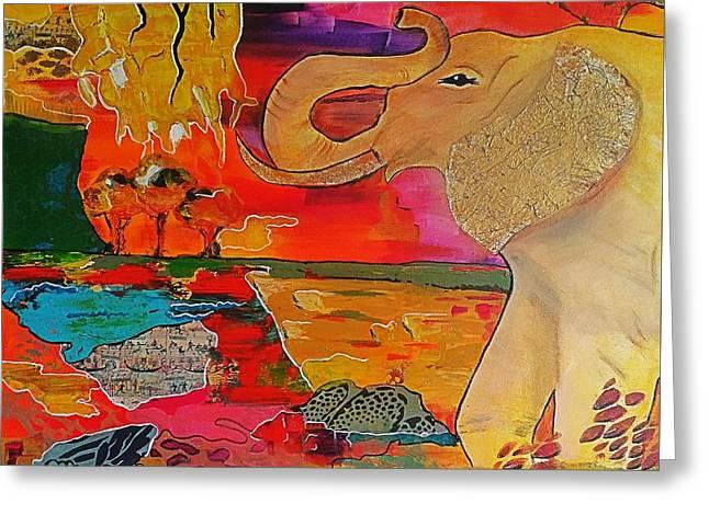 Botswana Greeting Card by Jan Steadman-Jackson