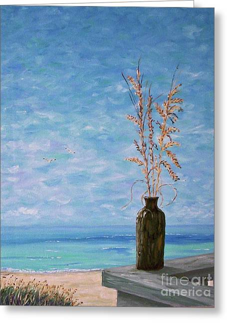 Bottle And Sea Oats Greeting Card