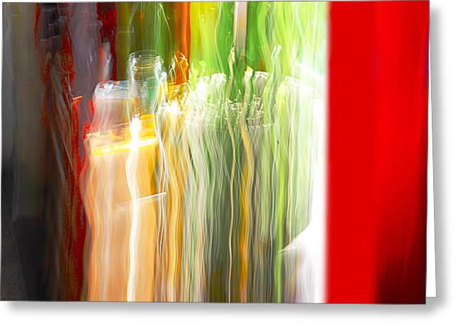 Greeting Card featuring the photograph Bottle By The Window by Susan Capuano