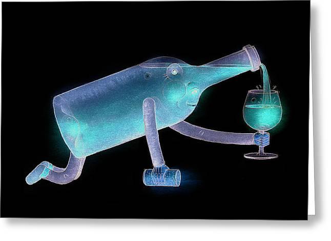 Bottle Greeting Card by Kestutis Kasparavicius