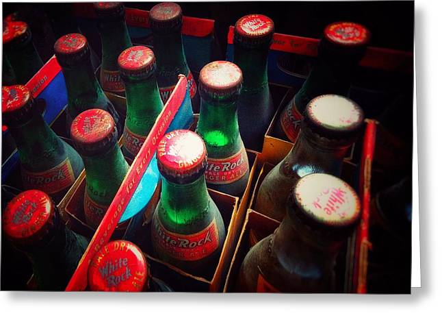 Greeting Card featuring the photograph Bottle Necks by Olivier Calas